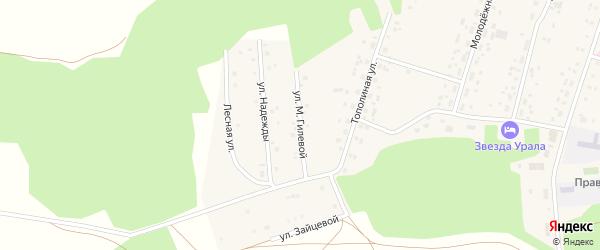Улица М.Гилевой на карте села Балтики с номерами домов