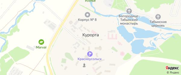 Садовая улица на карте села Курорты с номерами домов