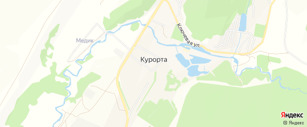 Карта села Курорты в Башкортостане с улицами и номерами домов