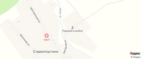 Нагорная улица на карте деревни Старооткустино с номерами домов