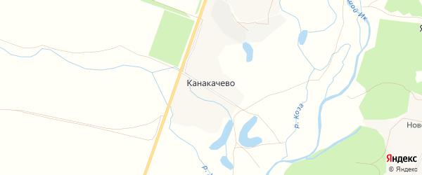 Карта деревни Канакачево в Башкортостане с улицами и номерами домов