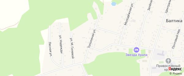 Тополиная улица на карте села Балтики с номерами домов