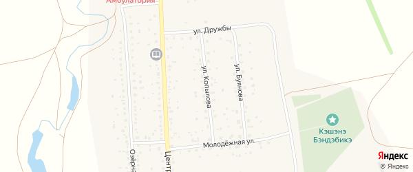 Улица Копылова на карте села Максютово с номерами домов