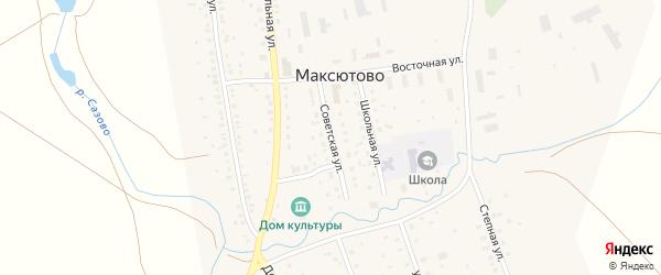 Советская улица на карте села Максютово с номерами домов