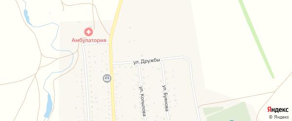 Улица Дружбы на карте села Максютово с номерами домов