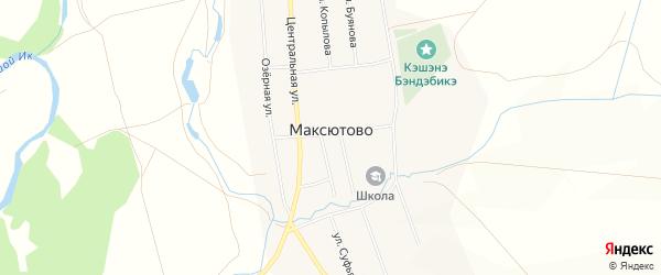 Карта села Максютово в Башкортостане с улицами и номерами домов