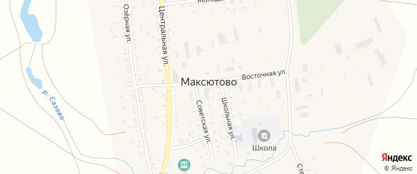 Дорожная улица на карте села Максютово с номерами домов