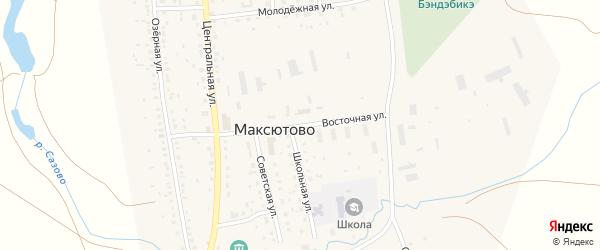 Восточная улица на карте села Максютово с номерами домов