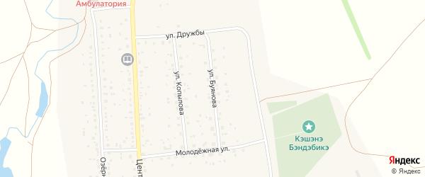 Улица Буянова на карте села Максютово с номерами домов