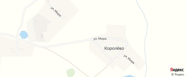 Улица Мира на карте деревни Королево с номерами домов