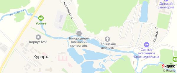 Ключевая улица на карте села Курорты с номерами домов