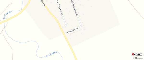 Южная улица на карте села Максютово с номерами домов
