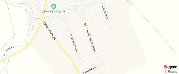Улица Зайнаб Биишевой на карте села Максютово с номерами домов