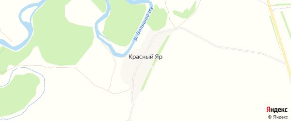 Карта деревни Красного Яра в Башкортостане с улицами и номерами домов