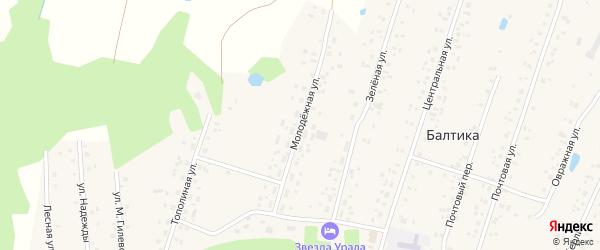 Молодежная улица на карте села Балтики с номерами домов