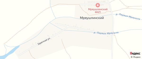 Заречная улица на карте деревни Мряушлинского с номерами домов