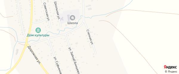 Степная улица на карте села Максютово с номерами домов
