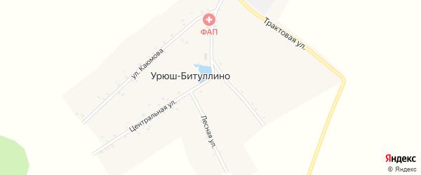 Лесная улица на карте деревни Урюш-Битуллино с номерами домов