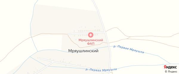 Юмагузинская улица на карте деревни Мряушлинского с номерами домов