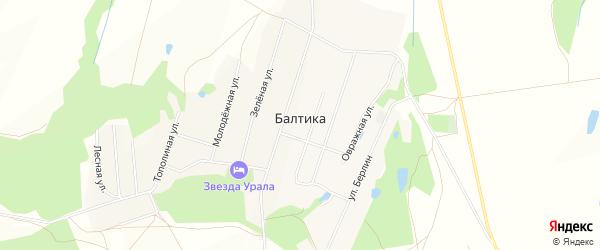 Карта села Балтики в Башкортостане с улицами и номерами домов