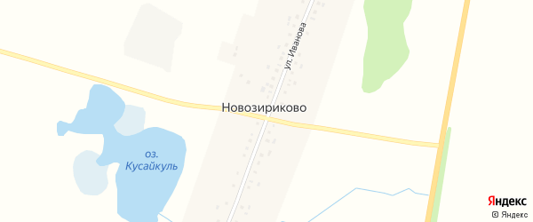 Улица Иванова на карте деревни Новозириково с номерами домов