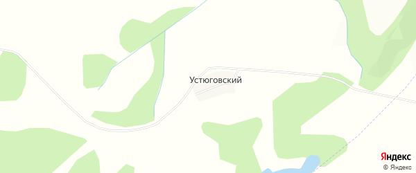 Карта деревни Устюговского в Башкортостане с улицами и номерами домов