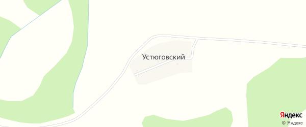 Земляничная улица на карте деревни Устюговского с номерами домов