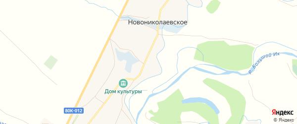 Карта Новониколаевского села в Башкортостане с улицами и номерами домов