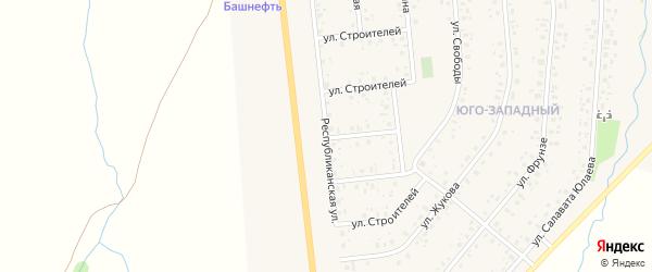 Республиканская улица на карте села Аскино с номерами домов