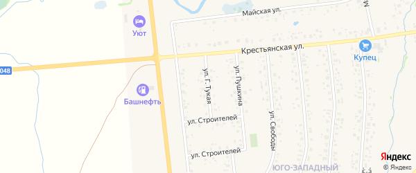 Габдуллы Тукая улица на карте села Аскино с номерами домов