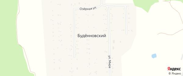 Тихая улица на карте деревни Буденновского с номерами домов