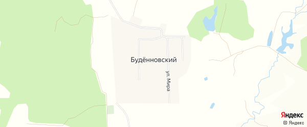 Карта деревни Буденновского в Башкортостане с улицами и номерами домов
