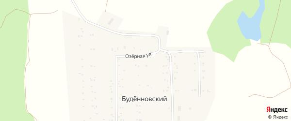 Озерная улица на карте деревни Буденновского с номерами домов