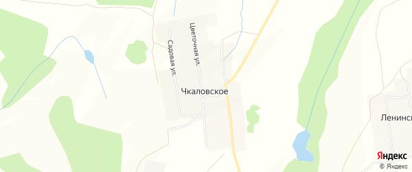 Карта деревни Чкаловского в Башкортостане с улицами и номерами домов