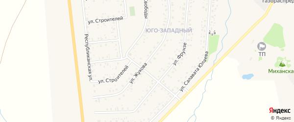 Улица Жукова на карте села Аскино с номерами домов