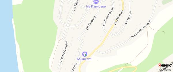 Улица Страупе на карте села Павловки с номерами домов