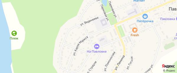 Улица Горького на карте села Павловки с номерами домов