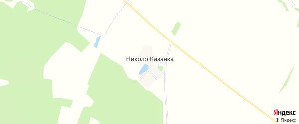 Карта деревни Николо-Казанка в Башкортостане с улицами и номерами домов