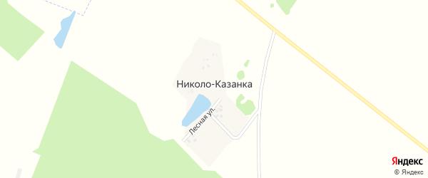 Лесная улица на карте деревни Николо-Казанка с номерами домов