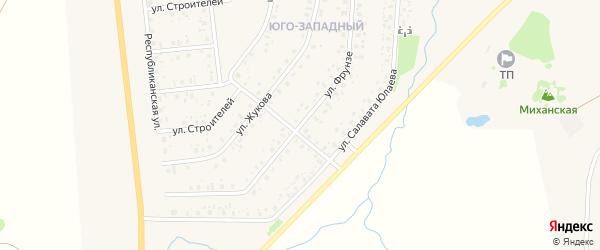 Улица Фрунзе на карте села Аскино с номерами домов