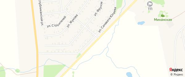 Улица Салавата Юлаева на карте села Аскино с номерами домов