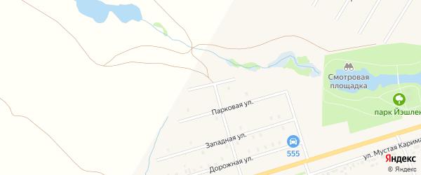 Набережная улица на карте села Аскино с номерами домов