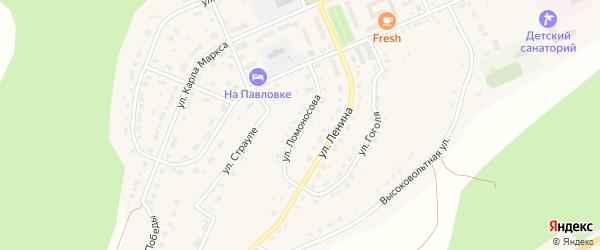 Улица Ломоносова на карте села Павловки с номерами домов