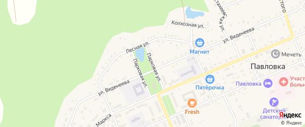 Парковая улица на карте села Павловки с номерами домов