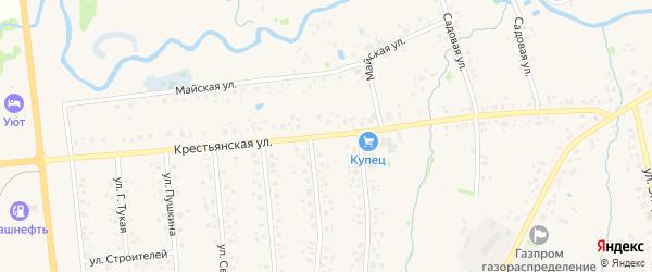 Крестьянская улица на карте села Аскино с номерами домов