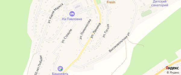 Улица Ленина на карте села Павловки с номерами домов