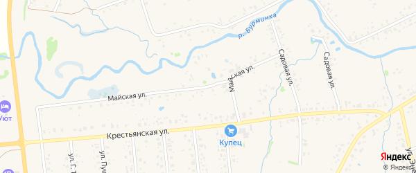 Майская улица на карте села Аскино с номерами домов