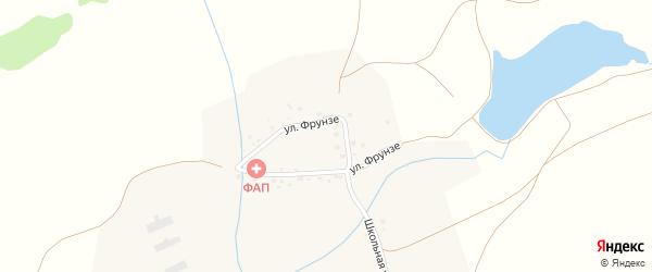 Улица Фрунзе на карте деревни Тюлебаево с номерами домов