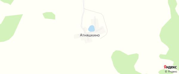 Карта деревни Атняшкино в Башкортостане с улицами и номерами домов