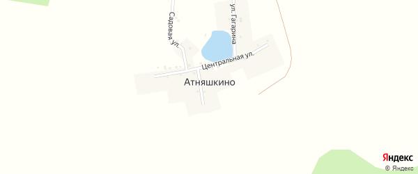 Центральная улица на карте деревни Атняшкино с номерами домов
